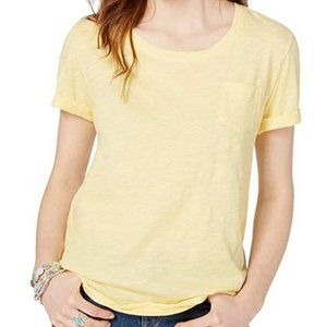 🌌2/$20 Style and Co Yellow Scoop Neck Top L